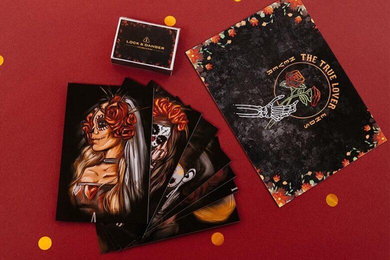 Карточки для квест-набора Санта Муэрте